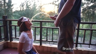 Bruce and Morgan Public Piss Drinking Compilation