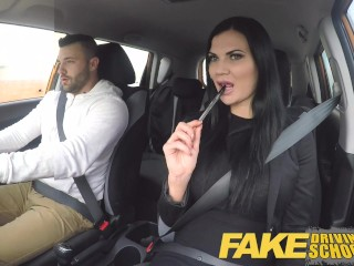 Yuu Kawakami Fake Driving School Jasmine Jae fully naked sex in a car
