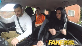 Fake Driving School Jasmine Jae fully naked sex in a car  car sex british porn big tits british blowjob naked cumshot 69 fakedrivingschool car porn big boobs black hair long hair porn star fds fake tits