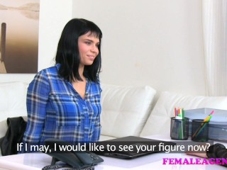 Preview 4 of Female Agent Busty agents toy gives sexy model orgasm multiple orgasms