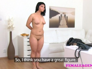 Preview 5 of Female Agent Busty agents toy gives sexy model orgasm multiple orgasms