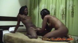 Sajeda with nasty Fatima fisting fingering black lesbian pussy homemade