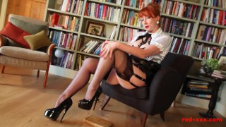 Private and in pussy hot her library fingers milf her sexy fingering boobs