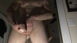 Just wanking the meat. Horny muscle twink stroking his cock