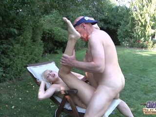 The icecream man gets to have sex with beautiful blonde tight ass pussy cum
