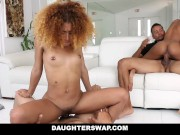 DaughterSwap - Ebony Daughters Punished & Fucked For Sneaking Out