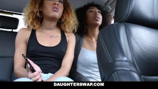 DaughterSwap - Ebony Daughters Punished & Fucked For Sneaking Out Point stepsister