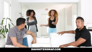 DaughterSwap - Ebony Daughters Punished & Fucked For Sneaking Out View of