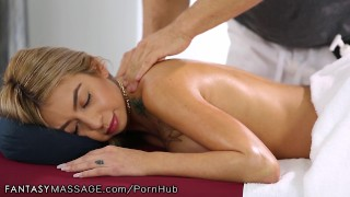 FantasyMassage Kat Dior Learns How to Squirt Blowjob cock