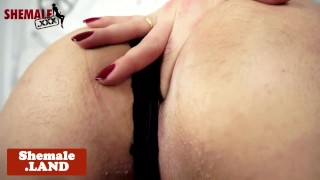 Busty latina tgirl with booty tugging cock Sex group