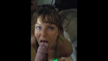 Hornytina is a cum thirsty slut!! Huge load in my mouth!!