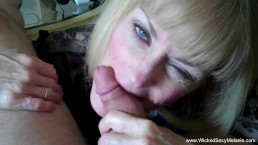 Amateur GILF Is A Cum Junkie