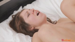 With wild sex videoz romantic passion natural brunette