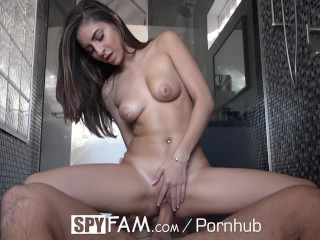Youtube Femdom Clips Spyfam Step Sister Nina North Watched By Step Brother In The Shower