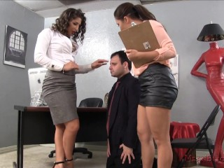 Mean Boss Abella Makes Her Employee Lick Her Asshole - Abella Danger Femdom