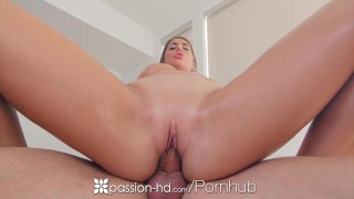 PASSION-HD Busty August Ames fat dripping pussy fucked dildo toys hardcore cream pie masturbation sex canadian big tits blowjob blonde august ames shaved big boobs tattoo passion hd hd busty