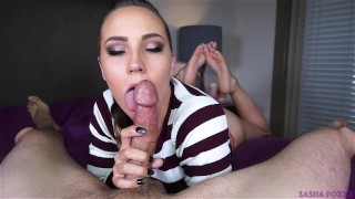 Mouth full of cum! Yum! the pose swallow big booty cim oral creampie huge cock mark rockwell cock sucking cum in mouth barefoot Pov Blowjob huge ass sasha foxxx ocp