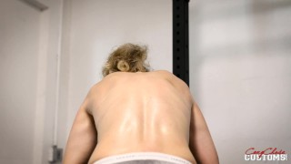 celeb blonde kink orgasm squirting big boobs cory flex biceps workout liftweighting milf glasses big tits working out flexing