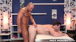 HotHouse Sean Zevran Pounds Tailors Ass with Hot Cock Muscle tattoo