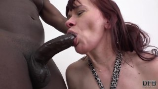 Granny mouth fuck deepthroat blowjob cumshot great interracial anal sex