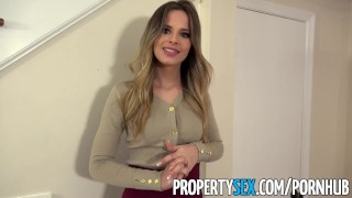 PropertySex - Extremely hot real estate agent cheers up client Big petite