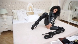 Anisyia Livejasmin Full latex bodysuit extreme high heels  big round tits fitness model curly hair kink brunette petite latex big boobs penetration romania bodysuit huge big roud ass camgirl extreme high heels