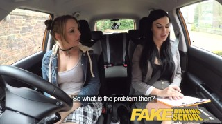 Fake Driving School Daddys girl fails her test with strict busty examiner porno