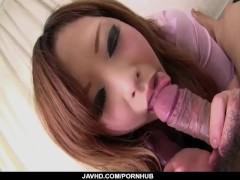 Aya Nanjo throats hard and then endures deep sex