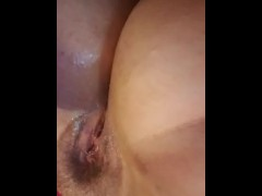 Morning orgasm gets me extra wet