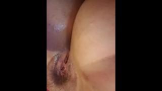 Morning orgasm gets me extra wet