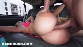 BANGBROS - Katia Enjoys Spring Break 2017 With Bang Bus (bb15961)  bang bus bang bros bangbros outside amateur public tan lines butt van bus bangbus bb15961 katia miami miami beach south beach