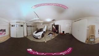 VRBANGERS- Robber Fucks Busty Milf Bridgette B In The Garage Brunette ass