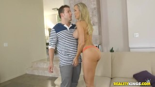Reality Kings - Brandi love fucks sons friend  big tits riding reverse cowgirl trimmed realitykings mom blonde fishnets milf cock sucking heels tight mother hunt milfhunter young and old pick up