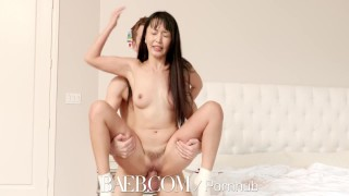 BAEB Asian babe Marica Hase pussy stuffed with super soaker facial porno