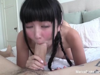 Preview 1 of Cute Asian Marica gets a long cock in a sexy home movie