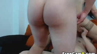 Horny Wife Gets Bang Hard Double Penetration