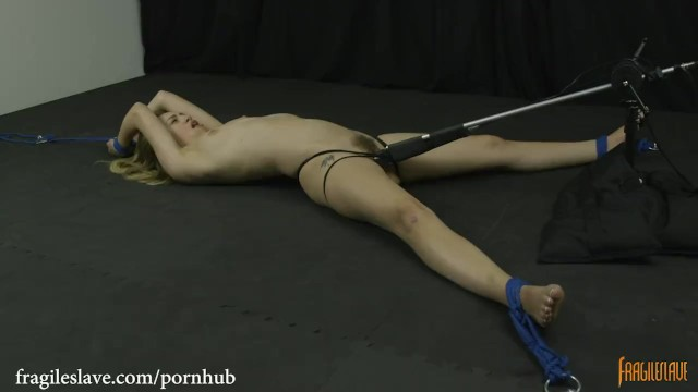 Ass slapped legs wide Lyra is bound helpless, spread wide and cumming