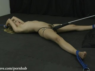 Brandi Teentubers Lyra is Bound Helpless, Spread Wide and Cumming