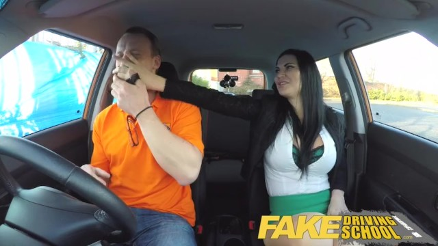 Problems for adult learners Fake driving male learner fucking his female driving examiner