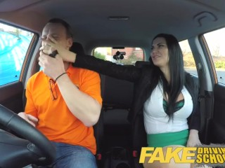 Innocent Funny Porn Hidden Cam Fake Driving Male Student fucking his female driving analyst