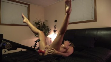 TIGHT AMATEUR MISSIONARY FUCKING 2 DILDOS- BUTT PLUGGED WITH CUM SHOT