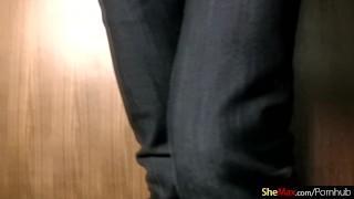 A in and tight dances curvy ladyboy jeans dildo fucks carrot dildos toys