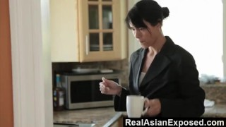 RealAsianExposed - Dana Vespoli gets double dipped and swallows cum Big natural
