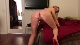 Hot blonde stripper fucked doggystyle