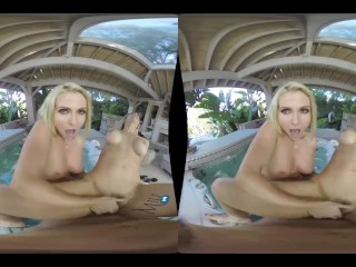 MilfVR – Double Tub Trouble – Sarah Vandella and Christie Stevens