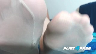 Mistress feet and with stockings dominates redheaded slave ginger fetish