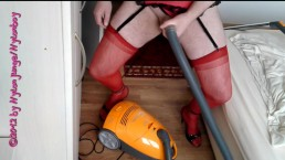 Fascination with vacuum cleaners (Sexy in nylons)