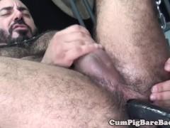 Mature bear rims and barebacks tight ass