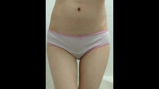 Girl to pink panties wets her needs little and pee whimpering girl girl