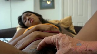 Preview 5 of Raven Wylde Gives a Footjob, Blowjob, and Handjob